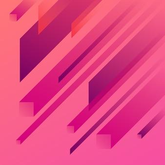 Różowy streszczenie geometryczne tło gradientowe.
