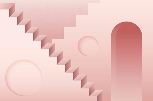 Różowy streszczenie schody