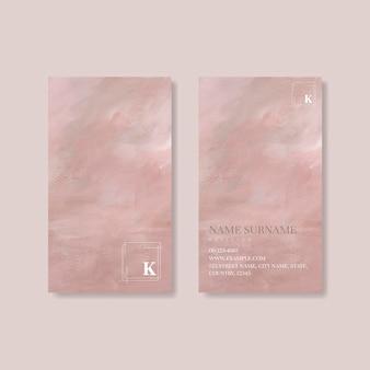 Różowy szablon wizytówki