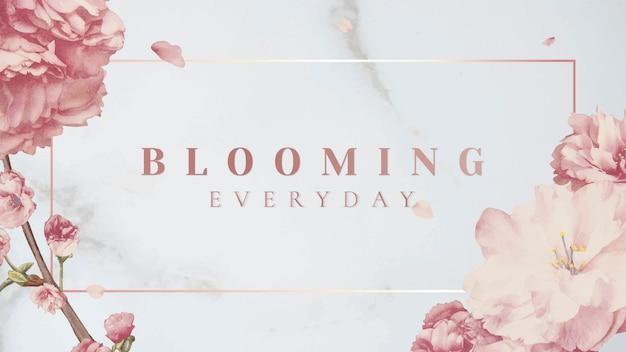 Różowy sztandar kwiatowy