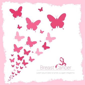 Różowy sztandar świadomości raka sutka