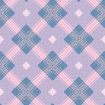Różowy tkany wzór w szkocką kratę