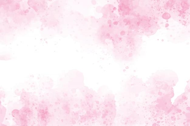 Różowy tło powitalny akwarela umyć