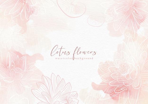 Różowy tło powitalny z wektorem kwiat lotosu