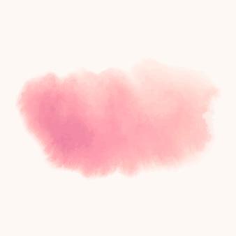 Różowy transparent wektor stylu akwarela