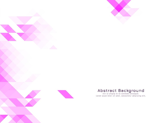 Różowy trójkątny wzór mozaiki geometryczne białe tło wektor