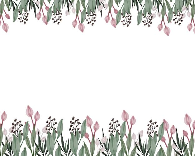 Różowy tulipan akwarela tło