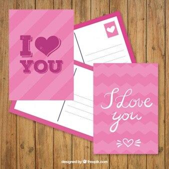 Różowy walentynki pocztowe