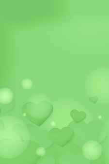 Różowy wzór bańki serca w tle