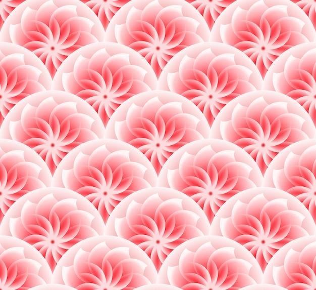 Różowy wzór kwiatowy