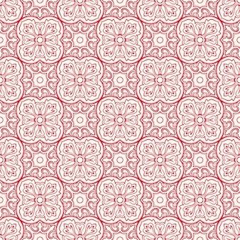 Różowy wzór z kwiatami
