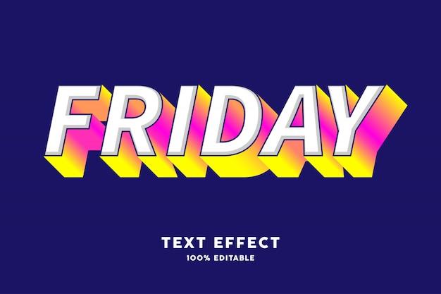 Różowy żółty gradient na białym efekt tekstowy