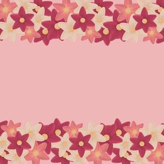 Różowych kwiatów bezszwowy wzór lub tło