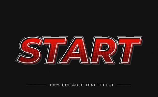 Rozpocznij efekt tekstu 3d kolorem gradientu