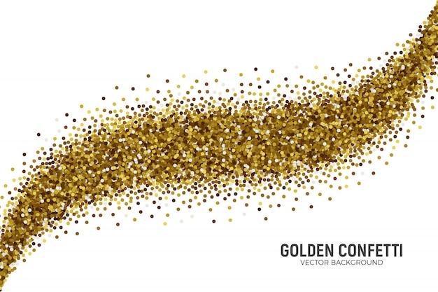 Rozproszone tło złotym konfetti