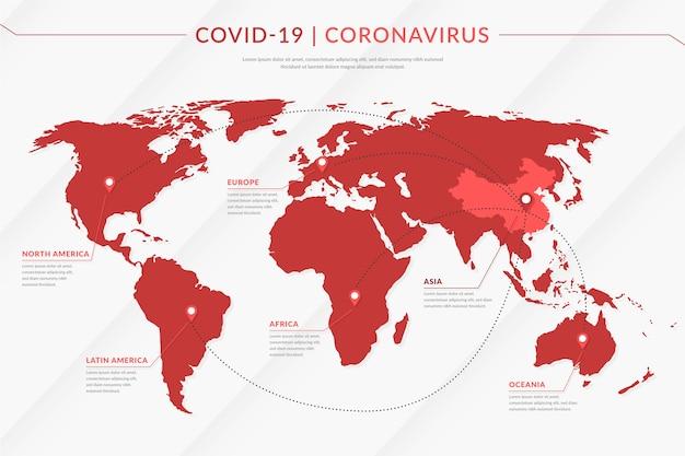 Rozprzestrzenianie mapy koronawirusów