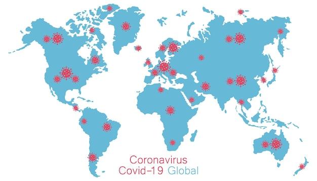 Rozprzestrzenianie się nowego koronawirusa niebezpieczne sygnały ostrzegawcze wirusa covid2019 pokazują plamę koronawirusa