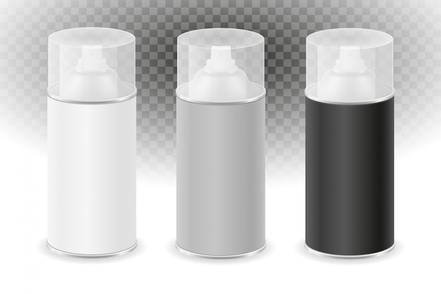 Rozpylić farbę w metalowym zestawie pojemników