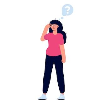 Rozważni ludzie. kobiety rozwiązujące problem. ilustracja wektorowa.