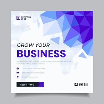 Rozwijaj swój biznesowy szablon ulotki kwadratowej