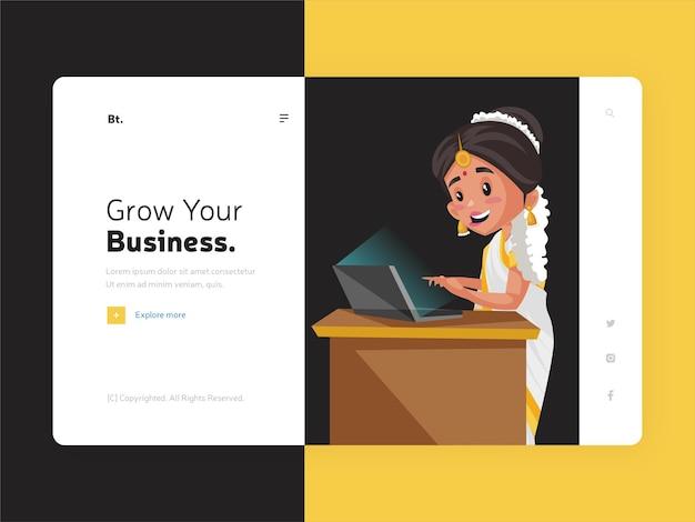 Rozwiń projekt strony docelowej swojej firmy