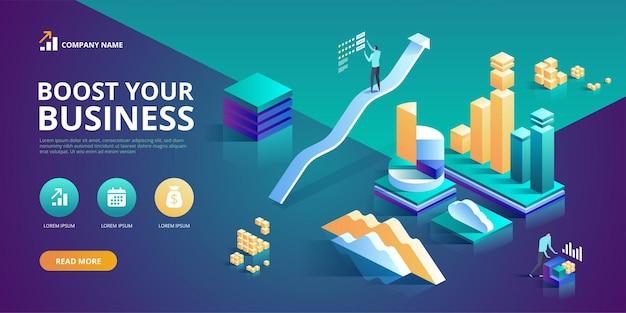 Rozwiń swój biznes koncepcja nowoczesnego projektu strony internetowej
