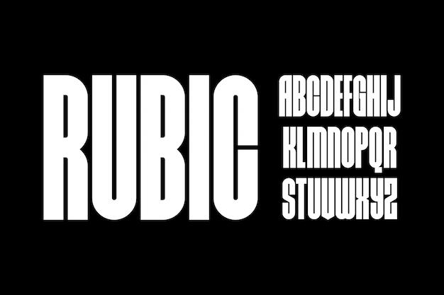 Rubyczny, geometryczny kształt font wektor typu alfabetu typ zestawu
