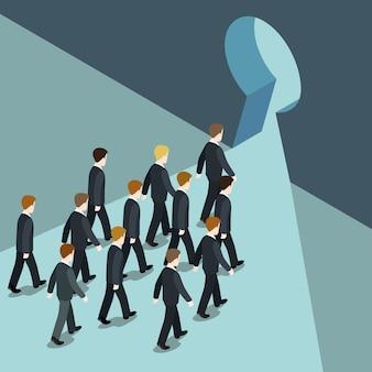 Ruch biznesowy w kierunku lepszej koncepcji przyszłych rozwiązań płaska sieć 3d