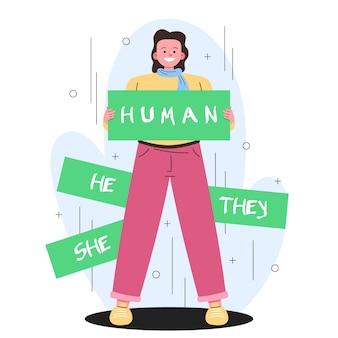 Ruch Neutralny Dla Płci Darmowych Wektorów