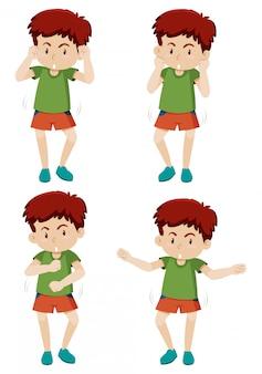 Ruch tanecznego chłopca
