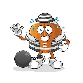Rugby piłka karnego postać z kreskówki
