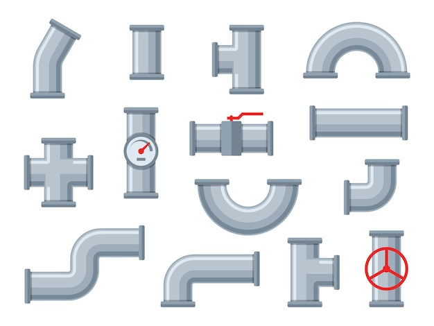 Rury wodne. różne typy rur z tworzyw sztucznych, filtry ściekowe. zawór kranowy, armatura, instalacje rurociągów przemysłowych, inżynier budowlany, zestaw elementów hydraulicznych