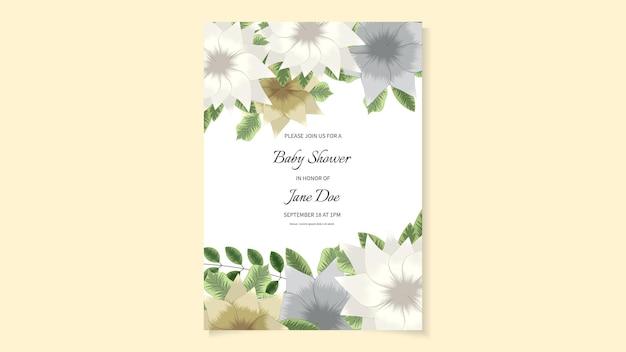 Rustykalne zaproszenie na ślub kwiatowy zaprosić dziękuję, nowoczesna karta rsvp.