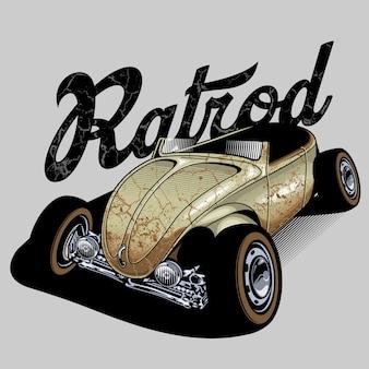 Rustykalny klasyczny samochód ratrod