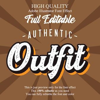 Rustykalny pogrubiony efekt czcionki edytowalnej typografii