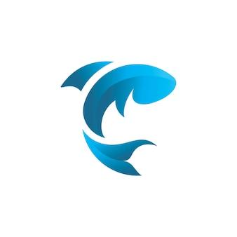 Ryba logo szablon ikona wektor wzór