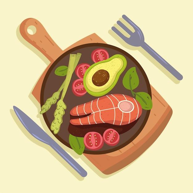 Ryby i warzywa