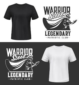 Rycerz wojownik, zbroja, miecz i tarcza
