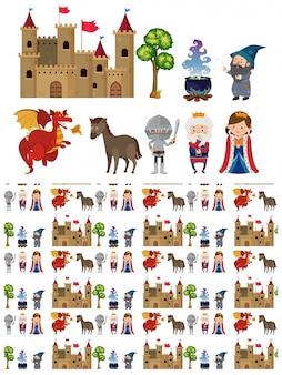 Rycerz, zamek i inne średniowieczne postacie