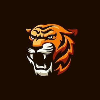Ryczące logo tygrysa