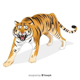 Ryczący tygrysi tło