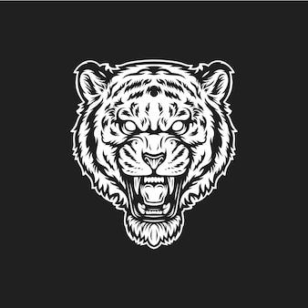Ryk głowy tygrysa
