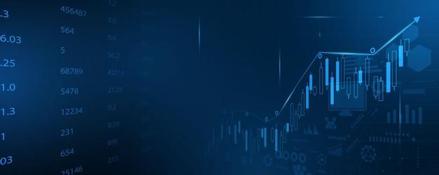 Rynek papierów wartościowych, ekonomiczny wykres z diagramami, biznesowi i finansowi pojęcia i raporty, abstrakcjonistycznej technologii pojęcia komunikacyjny tło