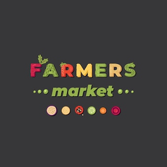 Rynek rolników - logo z napisem. .