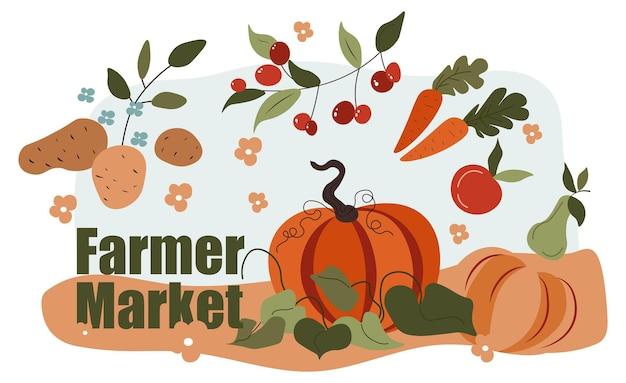 Rynek rolny sprzedaje organiczne warzywa i owoce