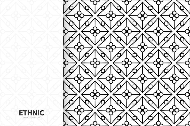 Rysować ręka bez szwu tekstury geometryczny wzór plemiennych