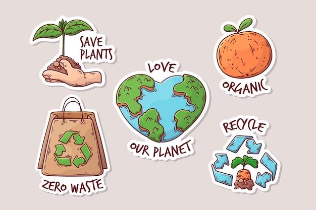 Rysować z pojęciem ekologii odznak