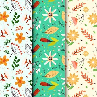 Rysowana kolekcja wiosennych wzorów