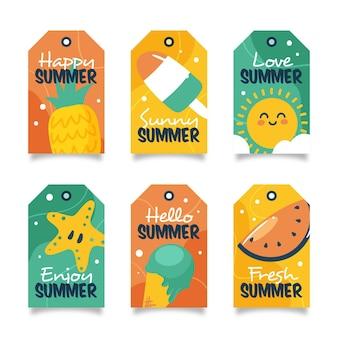 Rysowane letnie odznaki