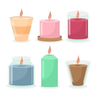 Rysowane opakowanie świec zapachowych